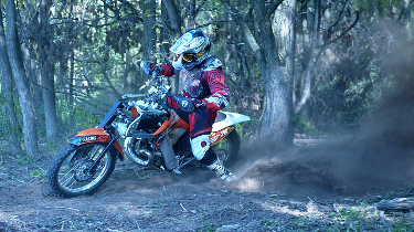 Lawson AWD motorcycle trail turn
