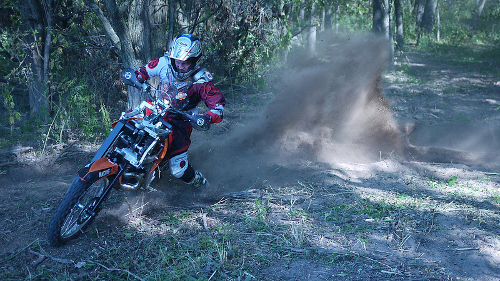 All Wheel Drive Motorcycle dirt turn